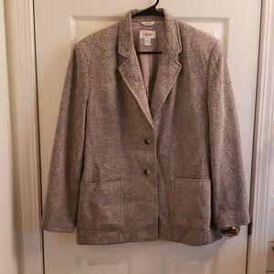 Talbots Gray Blazer Size 12